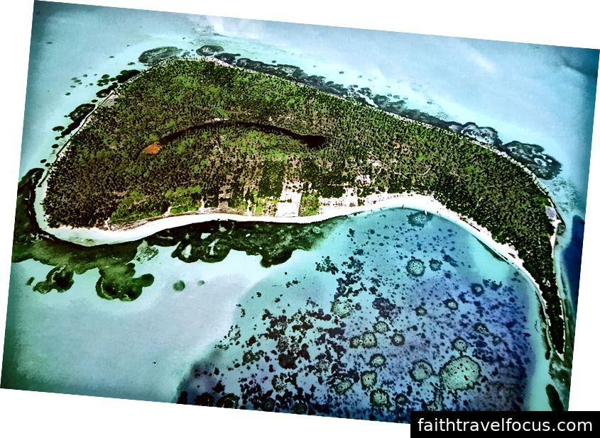 Khung cảnh Ariel của đảo Bangaram - Lakshadweep