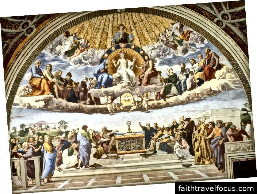 Tranh chấp Bí tích Thánh. Raphael.