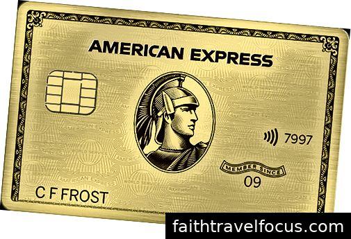 Đây là những gì một thẻ vàng amex trông như thế nào. khéo léo.