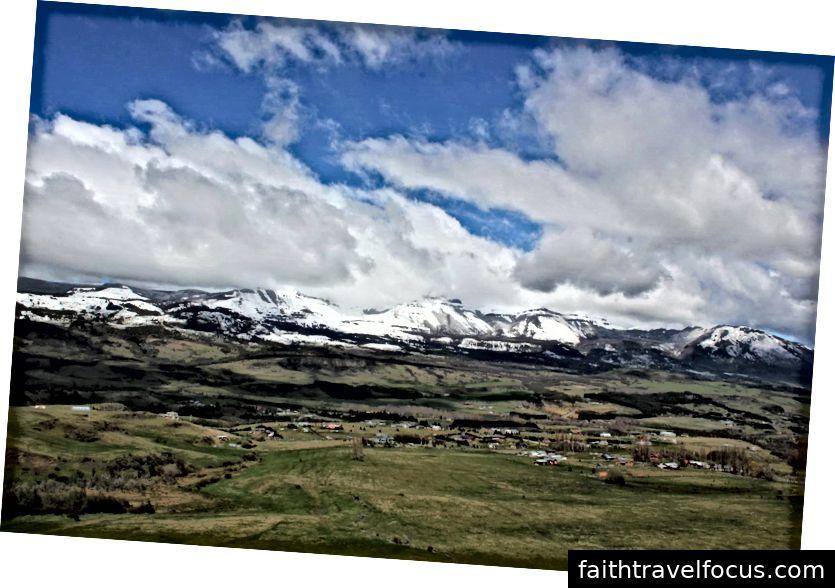 Nhìn xuống Valle Simpson, Vùng Aysén, vài ngày sau cơn bão.