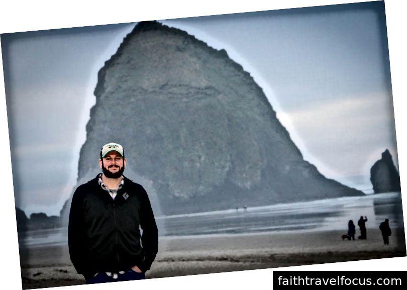 Jeff ở nơi hạnh phúc của anh ấy tại vùng bờ biển Oregon