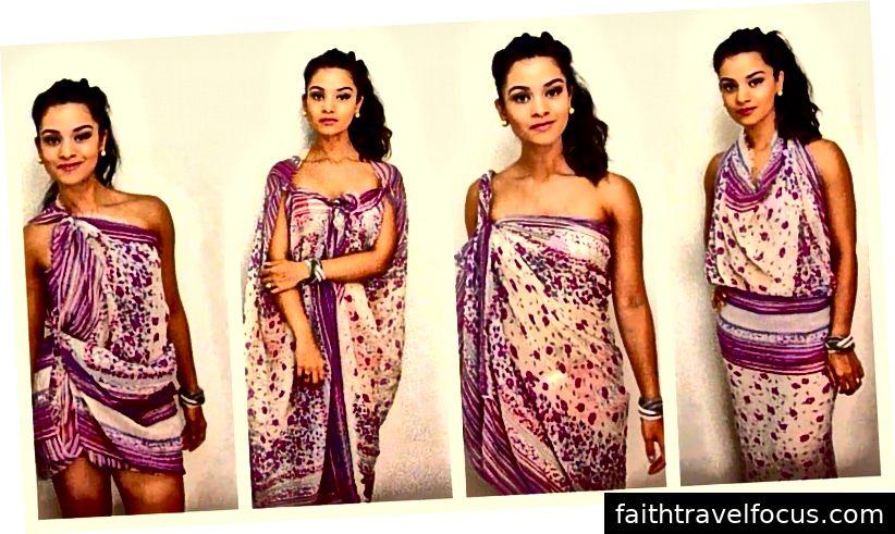 Một số trong nhiều cách để mặc sarong