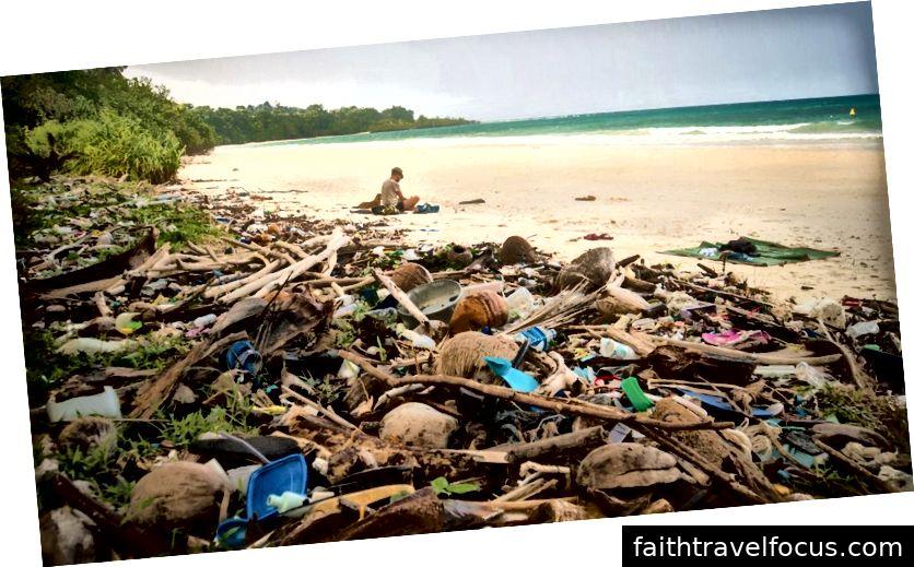 Rác nhựa của chúng tôi cuối cùng làm bẩn nơi này và làm hại người khác. Nguồn hình ảnh: iStock