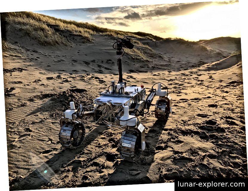 Der LUVMI-Rover wird zum Mond geschickt, um das Wassereis und die Chemikalien in seiner Kruste und Atmosphäre zu untersuchen. Imagegutschrift - LUVMI-Konsortium